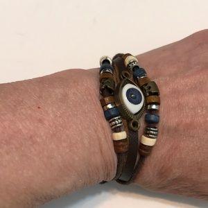 Jewelry - Day of the Dead Evil Eye Mixed Media Bracelet